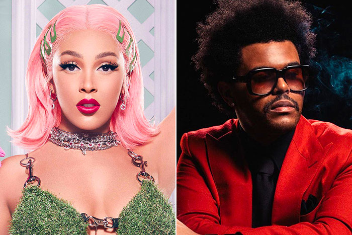 Doja Cat fait allusion à une collaboration avec The Weeknd