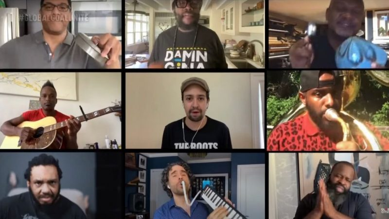 "Le casting de Hamilton interprète ""Helpless"" avec The Roots et Jimmy Fallon: Regardez"