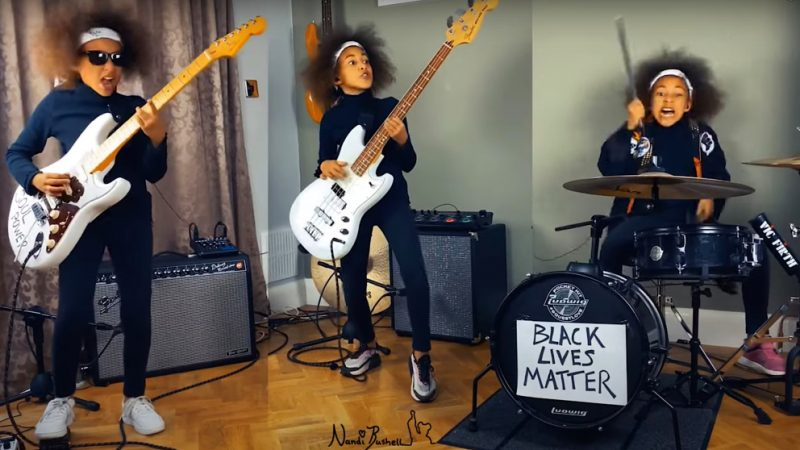 Young Girl Rocks Rage Against the Machine pour soutenir Black Lives Matter