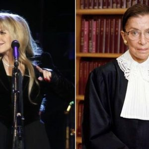 "Stevie Nicks rend hommage à son ""héros"" Ruth Bader Ginsburg"