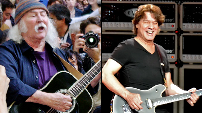 DAVID CROSBY se dit «un vieil idiot», dit maintenant EDDIE VAN HALEN était un guitariste «incroyable»