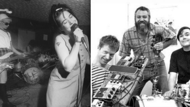 "Diffusez Mike Watt + La couverture du Black Gang de ""Rebel Girl"" de Bikini Kill"